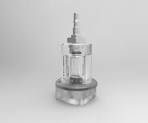 cellule de filtration transparente